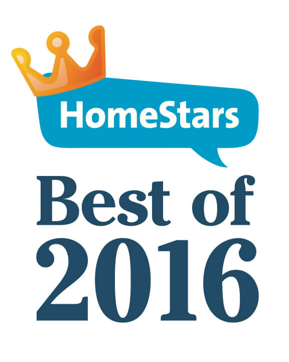 Best of HomeStars 2016 Certificate