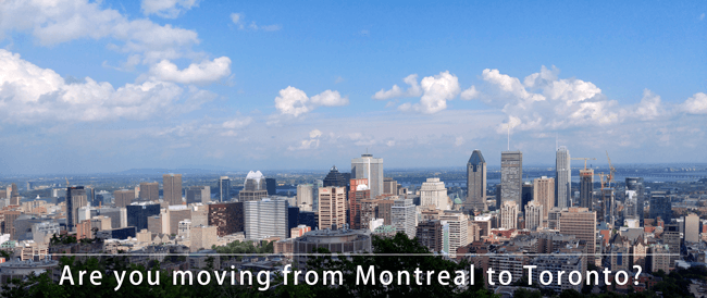 Moving from Montreal to Toronto across Canada