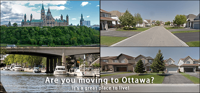 Moving from Toronto to Ottawa to live in