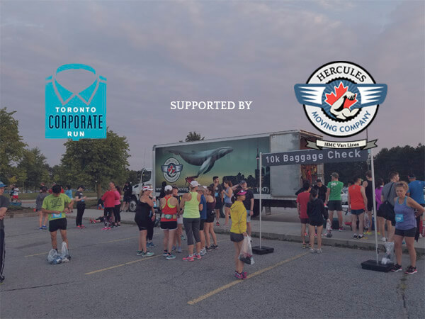 Hercules Moving Company supporting Toronto corporate run 2018